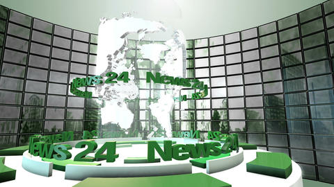 Broadcast World Loop Animation stock footage