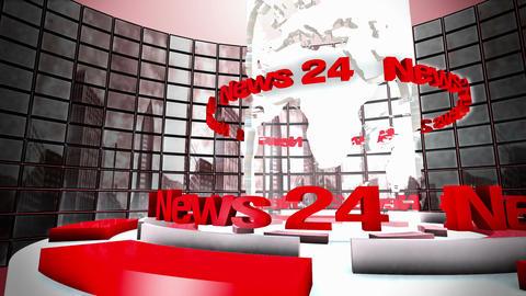 Broadcast world loop animation Animation