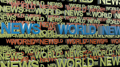 World news title Animation