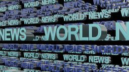 World News Looping Text Animation