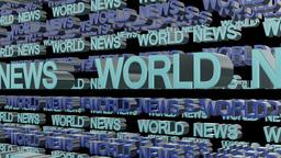World News Looping Text Animation