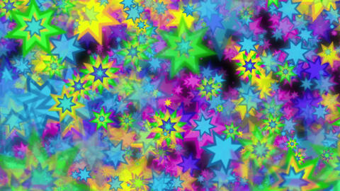 Multi colored stars background Animation