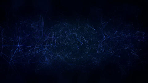 Network Space At Blue Background stock footage