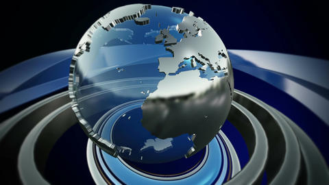 Spinning World Globe Animation
