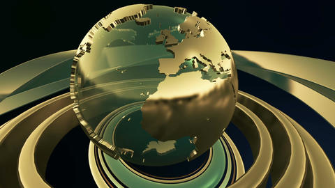 "3D Computer generated globe animation for a ""news"" Animation"