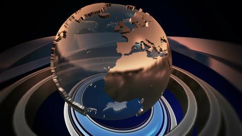 Spinning World Globe Animation