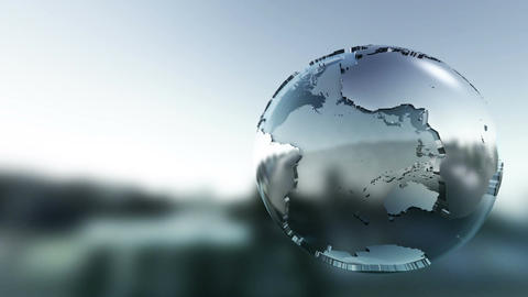 Simple Graphic 3D Globe Rotating stock footage