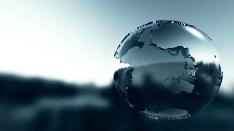 Simple graphic 3D globe rotating Animation