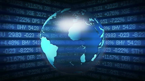 Global Finance Stock Market Animation Stock Video Footage