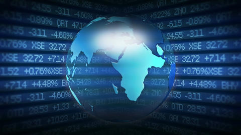 Global Finance Stock Market Animation Animation