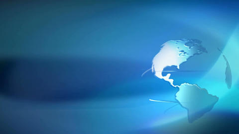 Blue Background With Planet stock footage