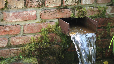 Waterfall In Garden stock footage