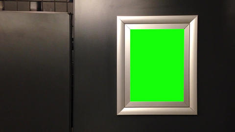 Green billboard for your ad Footage
