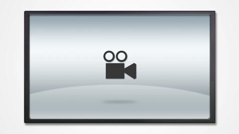 LCD display with photography icon HD Animation