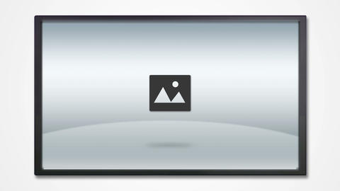 TV display with media icon HD Animation