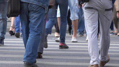 people cross the street Footage