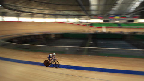 Bicycle Race Velodrome Competition stock footage