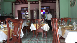 New Private Resturant In Cuba stock footage