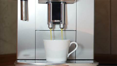 Front View Of The Coffee Maker stock footage