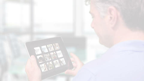 Businessman Browsing iPad Gallery AE Version 5 - 1