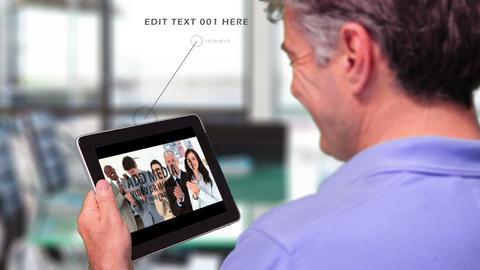 Businessman Browsing iPad Gallery AE Version 5 - 3