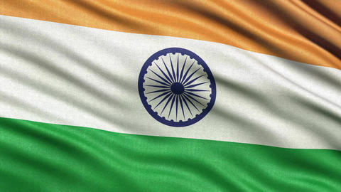 4K Flag of India seamless loop Ultra HD Animation