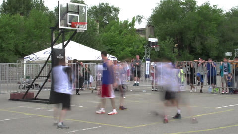 Basketball Court Time lapse Footage