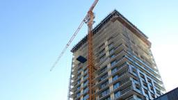 Building Skyscraper Timelapse stock footage