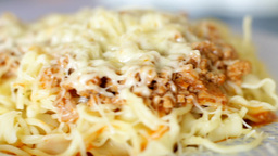 Italian Spaghetti Pastasciutta With Cheese 01 stock footage