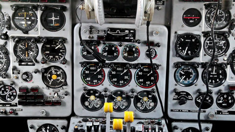 Different Flight Instruments On The Go stock footage