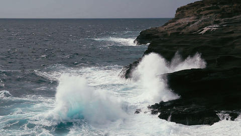 1080p, Shore Line, Coast Line At Lanai Lookout, Ha stock footage