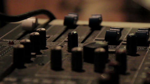 Closer Look of traktor an equalizer or mixer Footage