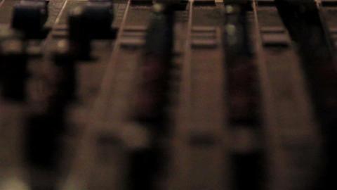 A more close-up equalizer or mixer of djs traktor Footage