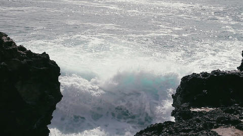 1080p, Shore Line, Coast Line at Laupahoehoe Point Footage