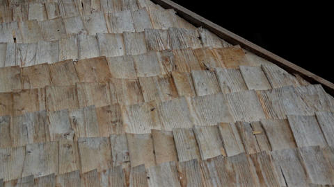 Wooden linings on Thatched Roof and A really close Footage