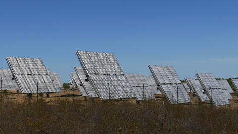 Field of Solar Panels Footage