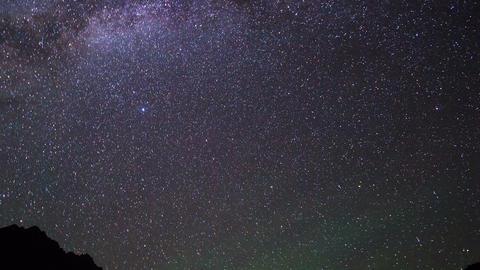 Milky Way over the mountains. Pamir, Tajikistan Footage