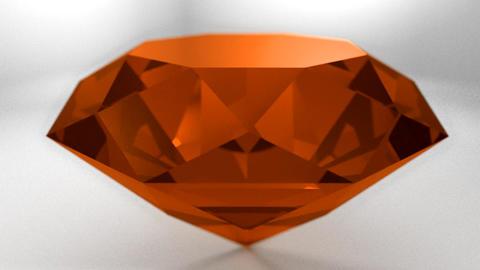 Amber orange gemstone gem stone spinning wedding b Animation