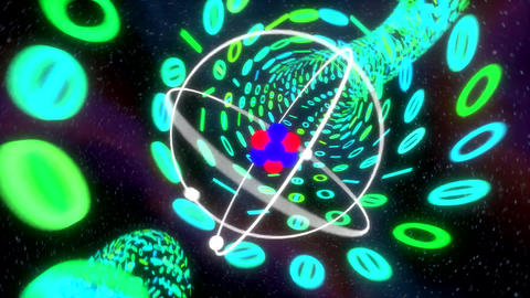 Atom chase through binary wormhole particle accele Animation