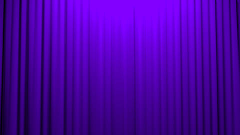 Purple Curtains opening and closing stage theater Stock Video Footage