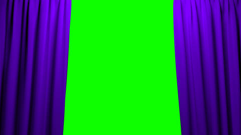 Purple Curtains opening and closing stage theater Animation