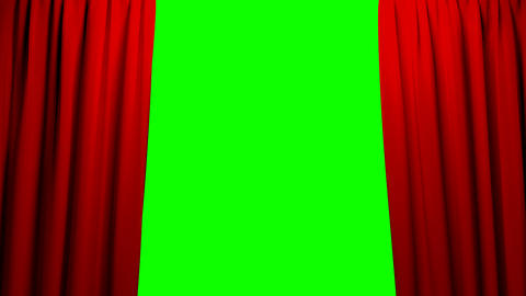 Red Curtains opening and closing stage theater cin Animation