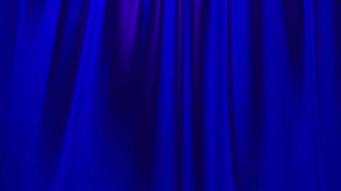 Silk satin elegant flowing background loop blue Animation