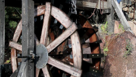 Big water mill running Footage