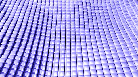 Cube Grid Patterns Wobble Abstract Background Blue stock footage