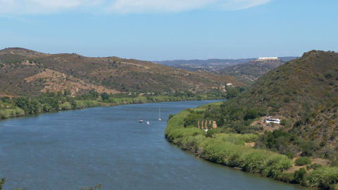 Panoramic View of the Valley with River Footage