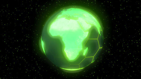 Earth planet world high tech display green Animation