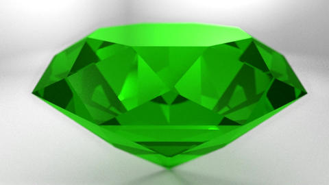 Emerald green gemstone gem stone spinning wedding Animation