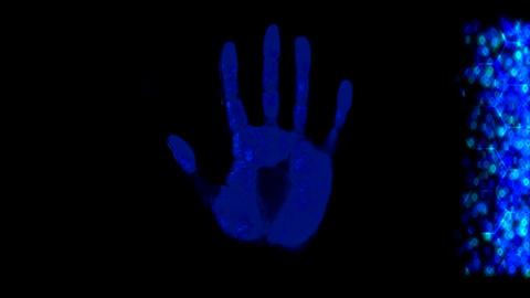 Hand scanner handprint fingerprint palm password i Animation