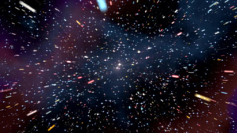 Space Hyperspace Travel Through Starfield Nebula stock footage